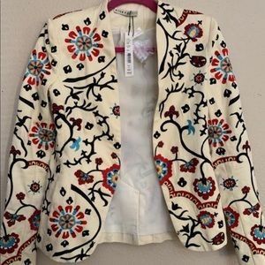 New Alice + Olivia Embroiled Jacket